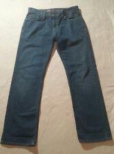 BULLHEAD DENIM Men's Blue Jeans Slim Straight 29x30 100% cotton medium wash F634