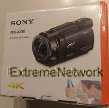 *BRAND NEW* SONY Handycam FDR-AX33 4K Flash Memory Camcorder Exmor Wi-Fi 120FPS
