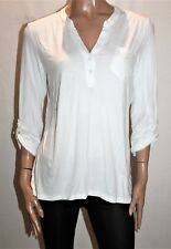 Millers Brand White Long Sleeve Front Pocket Top Size 12 BNWT #TL119