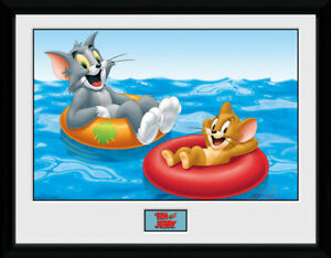 Tom and Jerry Framed Photograph 40 x 30 cm