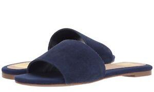 DOLCE VITA Womens 'Dori' Navy Suede Slide Sandals Sz 6 - 10 - 231581