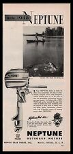 1948 NEPTUNE Outboard Motor AD Muncie Gear Works Advertising
