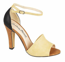 Anne Michelle Women's Synthetic Leather Strappy, Ankle Straps Heels