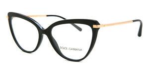 New Authentic DOLCE & GABBANA DG3295 501 Black/Demo Lens 53/16/140 RX Eyeglasses