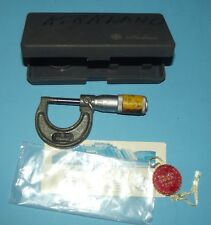 "Mitutoyo Outside Micrometer No. 115-253 - 0-1"" - .0001"" Made in Japan with Case"