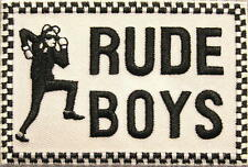 "SKA AUFBÜGLER / EMBROIDERY PATCH # 5 ""RUDE BOYS"""