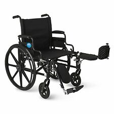 "22"" WIDE SEAT Premium Ultra-lightweight Wheelchair - Flip-Back Desk Arms & ELR"