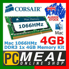 Corsair Mac Memory 4GB RAM DDR3 SODIMM 1 x 4GB 1066MHz Apple MacBook Pro iMac C7