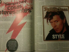 David Bowie interview report spanish Rolling Stone December 2006