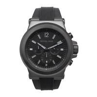Michael Kors MK8152 Black Dylan Chronograph Black Dial Rubber Unisex Wrist Watch