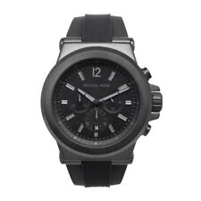 Michael Kors MK8152 Black Dylan Chronograph Black Dial Rubber Unisex Wrist Watch