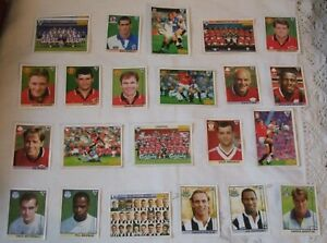 MERLIN`S FOOTBALL STICKERS ** MERLIN PREMIER LEAGUE 96 FOOTBALL STICKER CARDS **