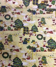 En Polycoton Tissu HOHOHO Santa/'s Elfes Noël Noël Festif