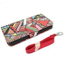 ELEGANI Modern Graffiti Vegan PU Leather iPhone 5/5S/SE Wallet Magnetic Case