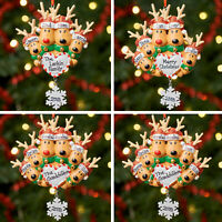 Personalised Family Christmas Tree Xmas Decoration Ornament Reindeer Family 2-6