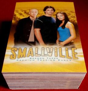 SMALLVILLE - SEASON THREE - COMPLETE BASE SET of 90 cards - Inkworks 2004