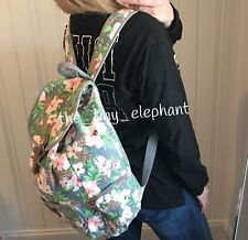 Victoria Secret Pink Floral Cheetah Leopard Animal Full Size Canvas Backpack VS