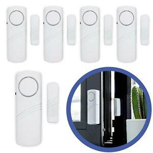 Türalarm Fensteralarm Alarmanlage Sirene Alarm 5x Set Einbruchschutz Fenster Tür