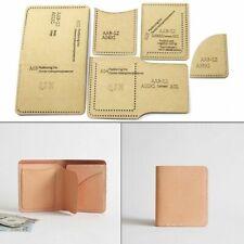 Leathercraft Short Wallet Card Holder Sewing Pattern Stencil Template Handmade