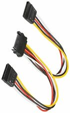 2 x Sata Female to 15 pin sata male Power Splitter Y Cable 20 cm