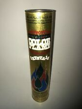 Vintage Seymour Color Flame Crystals Fireplace 16 oz. Canister Fire Gold