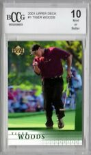 Tiger Woods 2001 Upper Deck ROOKIE - Graded Mint BCCG 10!