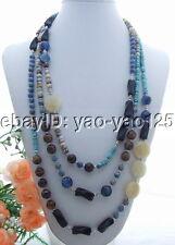Eye&Onyx&Jasper Necklace New! Turquoise&Jade&Ti ger's