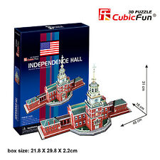 New Independence Hall New York USA 3D Model Jigsaw Puzzle 43 Pieces C120H