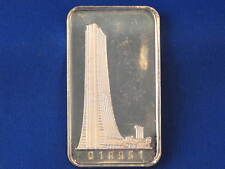 First National Bank Of Chicago Silver Art Bar B2766