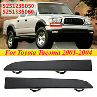 Front Grille Headlight Filler Panel Trim For Toyota Tacoma 2001 2002 2003 2004