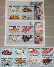 GUINEA 2001 Klb 3378-85 Block 679-80 Weichtiere des Meeres Sea Life Fauna MNH