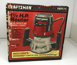NOS New CRAFTSMAN Sears 1-1/2 HP ROUTER 17575 25000 RPM MADE IN USA Free Ship