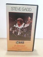 Steve Gadd vintage VHS 1985 IN SESSION DCI music