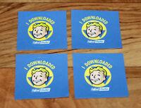 4 x Fallout 4 Shelter Vault Boy Promo Sticker Gamescom 2015 76 PS4 Xbox One