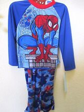 Marvel Spider-man Boys'  2-piece Pajama Set with Sleep Sack Size M NWT