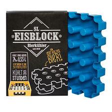 SL Eisblock 24 x 0,33l Flaschenkühler Bierkühler Getränkekühler Kontakt Blau Neu