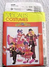 342/9045 SEWING PATTERN~UNCUT~MEN/MISSES SZ MEDIUM~COSTUME:RINGLING BROS CLOWNS