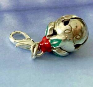 Brighton Christmas Bell Ornament Holly Berries Green Holiday Custom ABC Charm