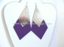 Wholesale of 12 pairs Wood earrings with golden and Silver Metal # 454