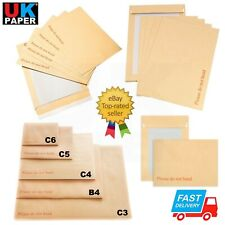 HARD BOARD BACKED BROWN MANILLA ENVELOPES PLEASE DO NOT BEND A3 A4 A5 PEEL SEAL
