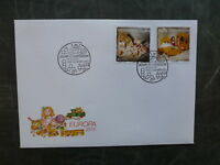 2015 LUXEMBOURG EUROPA TOYS SET OF 2 FDC FIRST DAY COVER