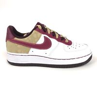 Nike Air Force 1 07 Womens Burgundy Floral Low Shoes Size 5.5 Retro 315115-162