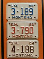 Montana 1990s Trailer Tags Genuine Pre-Owned USA American License Plates