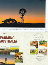 """2012 Farming Australia set of 4 booklet stamps on limited edition """"K"""" Covers FDC"""