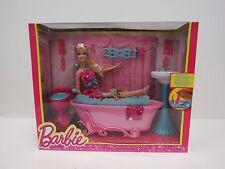 Poupée Barbie Glam meuble salle de bain Playset Mattel-WB S10