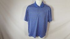 Men's Blue Striped NIKE GOLF Short Sleeved Athletic Fitness Shirt Sz M