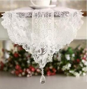 Off White Piano Runner Floral Embroidery Table Runner Wedding Decor Lace Runner