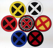 "X-MEN Logo 3.5"" Embroidered Cosplay Patch- 7 Different Available, Sets & Singles"