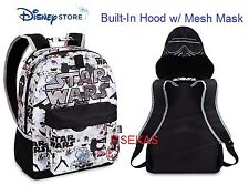 Disney Store Imperial Death Trooper Deluxe Backpack with Hood and Mask 2016 NEW