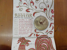 "2005 50 Cent Uncirculated Coin: Lunar Series - ""Year of the Rooster."""